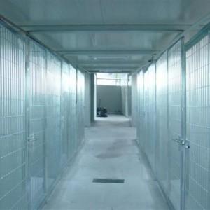 Pasillo interior de las habitaciones